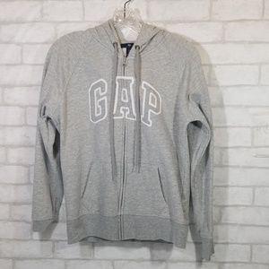Gap gray zip up hoodie sweater  size Medium